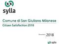 Indagine citizen satisfaction 2018