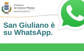 Il Comune di San Giuliano è su WhatsApp!
