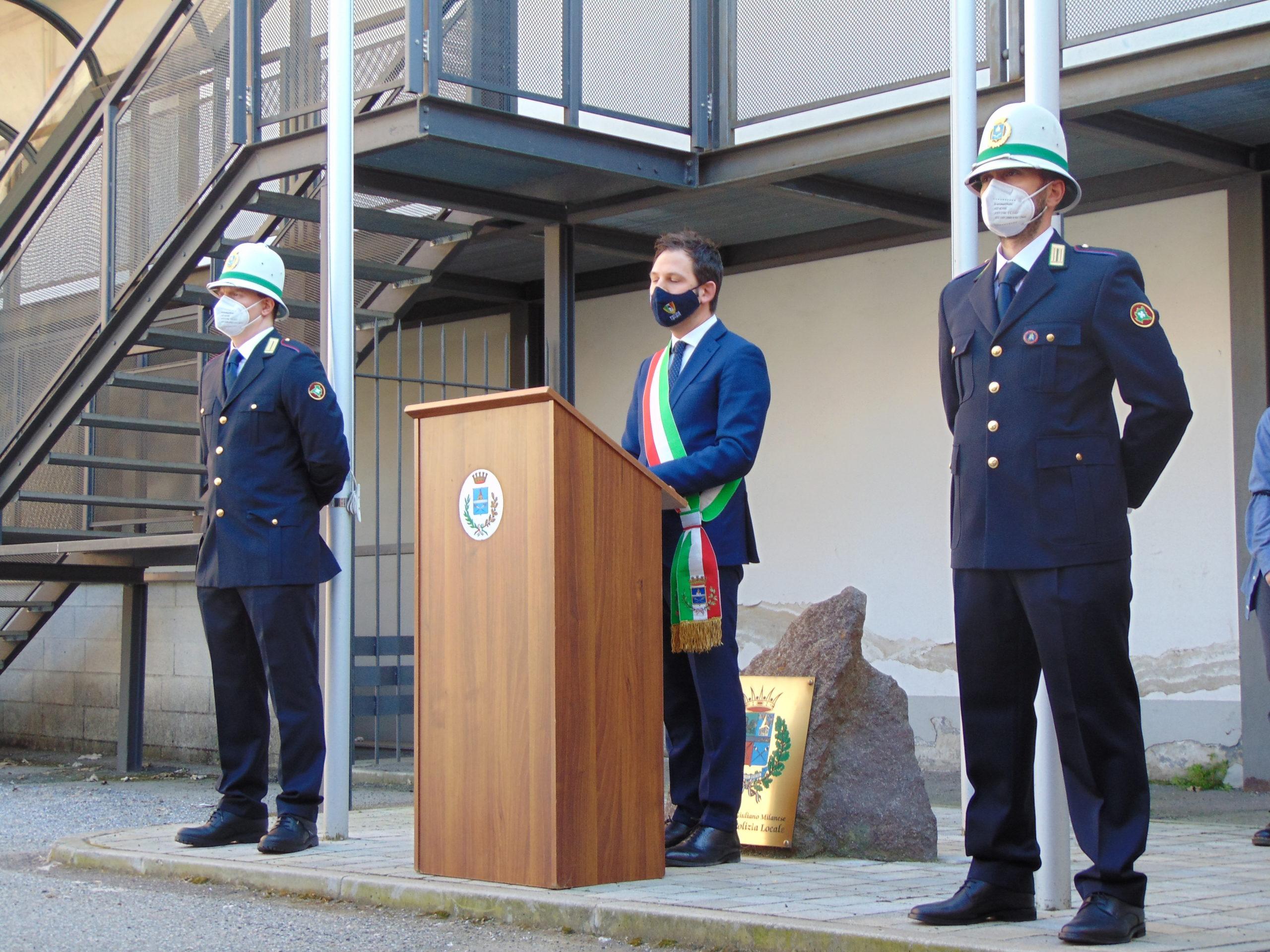 Nastrini di merito alla Polizia Locale per l'impegno contro il Covid 19