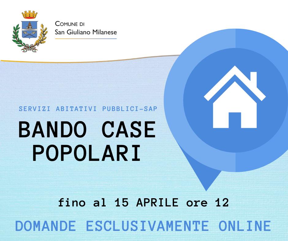 Bando 2021 Servizi Abitativi Pubblici (Case Popolari)