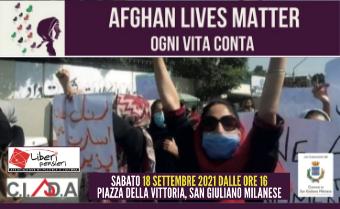 Insieme in Piazza della Vittoria a sostegno della causa afghana