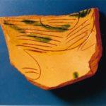 Frammento di ceramica rinascimentale