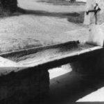 Coperchio di sarcofago riutilizzato come abbeveratoio